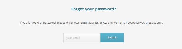 POF Nanaimo Forgot password