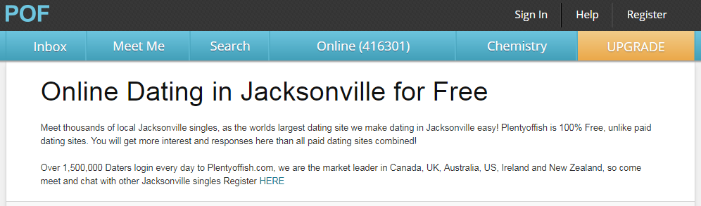 POF Jacksonville Login And Find People From Jacksonville