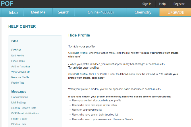 To registering pof how view profiles without How To