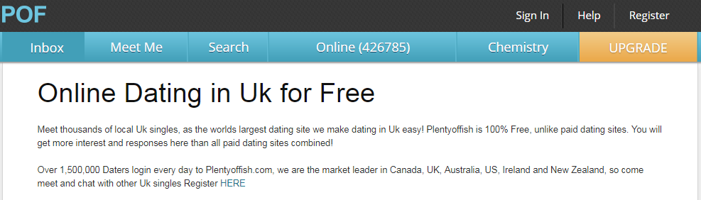 Plenty Of Fish UK Search Without Registering