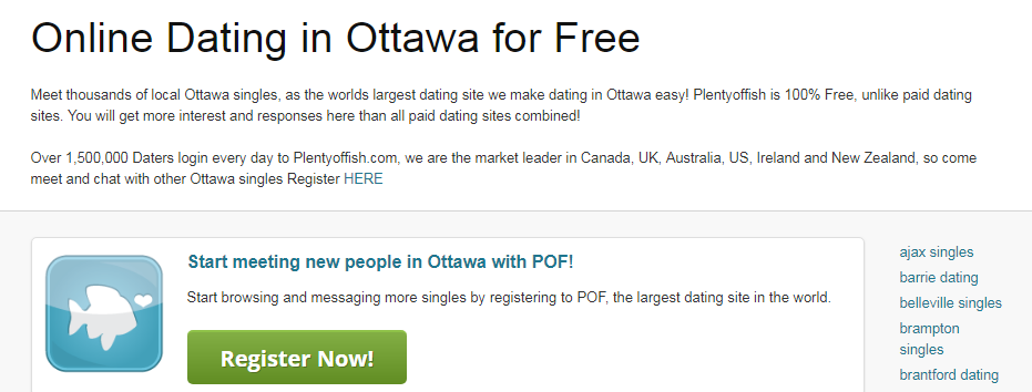 PlentyOfFish Ottawa Login Steps