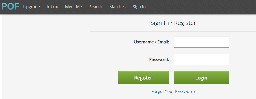 Plenty of Fish Login Page