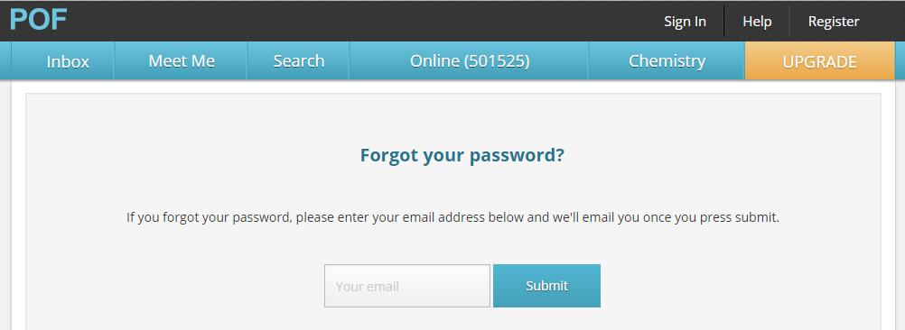 PlentyOfFish POF Miramichi Reset Password