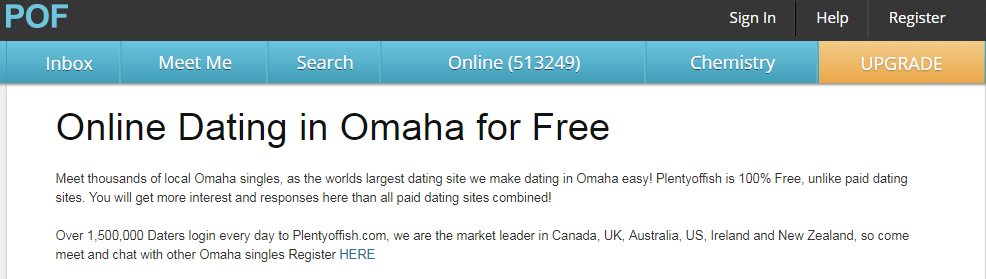 PlentyOfFish Omaha Login and Reset